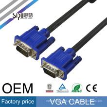 SIPU precio barato 1 m macho a macho cable vga para tv monitor de la computadora conexión de video