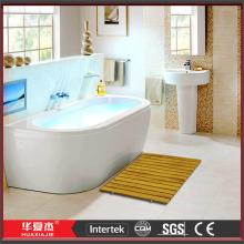 Baño de madera Mat alfombra de baño plástico