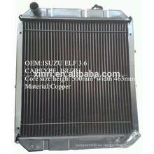 China fabricante suministro de latón / radiador de cobre para ISUZU NPR ELF radiador de camiones