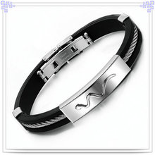 Rubber Bracelet Silicone Bracelet for Jewelry Fashion (LB253)