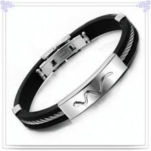 Borracha bracelete de silicone pulseira para jóias moda (lb253)