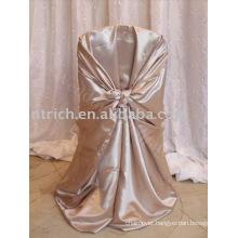 elegant satin wrap chair cover