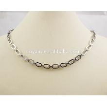 Fashion 316L en acier inoxydable Link Chain Necklace & Bracelet Jewelry Set