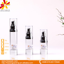 20/30/50ml luxury ABS essential cream transparent airless bottle