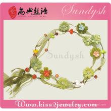 Woven Widen Nachahmung Floral Frauen handgemachte Blume Gürtel