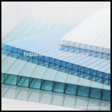 5MM Polycarbonat Sonnenblätter Transparente Dachplatte