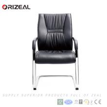 Orizeal Fabricant Softly Cushion Noir Chaise de bureau visiteur en cuir avec pied Bow (OZ-OCL001C)