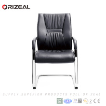 Orizeal Manufacturer Softly Cushion Black Leather Visitor Office Chair with Bow Foot(OZ-OCL001C)