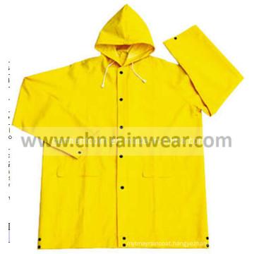 Waterproof PVC Polyester Rain Jacket