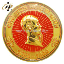 China manufacturers custom magnetic metal gold souvenir lapel pins