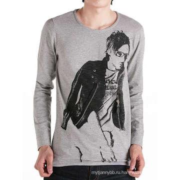 Модный дизайн печать на молнии спереди хлопок на заказ мужчины футболки
