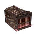 Nature Pet Wicker Basket with Handle Cat Show Cage Indoor Breeding Cat Cage