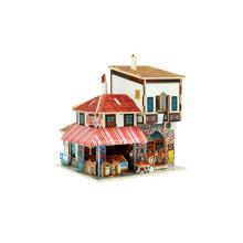 Juguete de coleccionables de madera para el mercado mundial de especias de casas-pavo