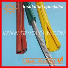 Linha aérea da isolação resistente do fio da tensão média tampa do silicone