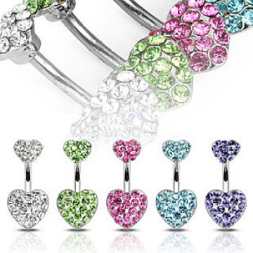 Cristal Magnetic Heart Nombril nombril Anneaux