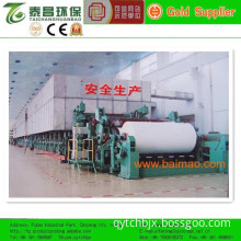 New arrival 50-200T Writing paper making machine raw material waste paper