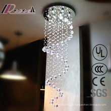 Lampe de plafond suspendue en cristal clair de luxe de salle de conférence