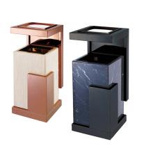 Caja de basura creativa del acero inoxidable para el vestíbulo (YW0074)