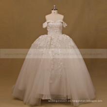 Princesa Sweet Heart Cap manga vestido de bola de encaje de cuentas vestido de novia