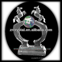 trophée en cristal blanc X050