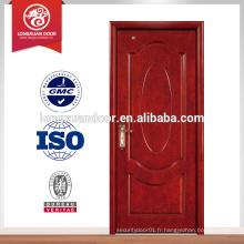Design de porte en panneau de bois massif, dessins en porte simple en bois, porte en bois