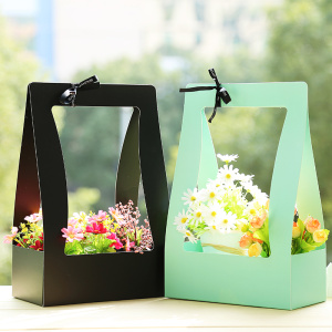 Flat Packed SBS Paper Packaging Flower Box