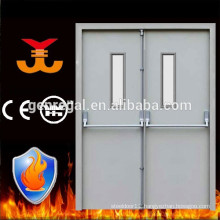 Steel emergency exit double door with panic bar