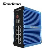 Conversor de medios ópticos con conmutador de puertos 2SFP + 8RJ45 no gestionados