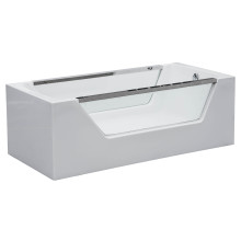 Rectangular Glass Acrylic Bathtub