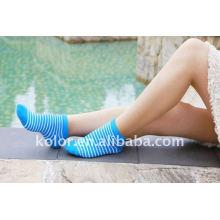 Moda meias de algodão de algodão colorido