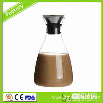 Online Exporter for China Supplier New Design Stainless Steel Lid Glass Carafe,Glass Drip-Free Carafe High Borosilicate Glass Coffee Maker supply to Martinique Factory