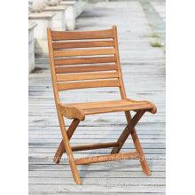 Pátio Madeira Folding Bistro Chair para jardim ao ar livre Lawn Cafe House Terrace Home Deck