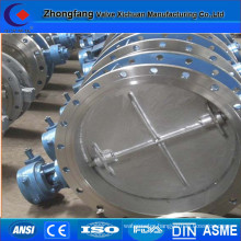 CE approved double flange connection butterfly Valve