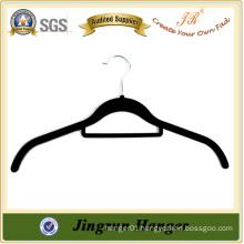 High Quality Black Plastic Velvet Hanger for Shirt