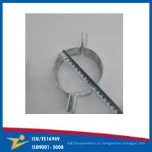 Dispositivo de adaptação feito sob encomenda do metal da placa do zinco da braçadeira de tubulação que aperta a faixa China fornecedores