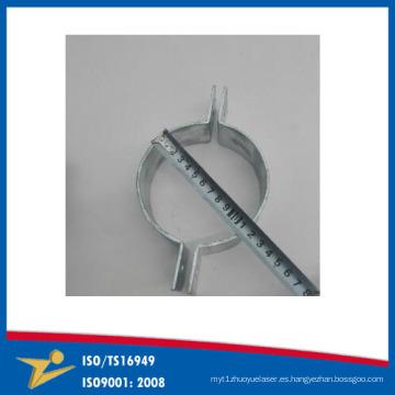 Dispositivo de adaptación de encargo del metal de la placa del cinc de la abrazadera del tubo de encargo que cierra la banda Proveedores de China