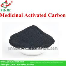 Carbón activado en polvo para medicina