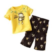 Mehrfarbige Baumwolle Tops und Shorts 2er Pack
