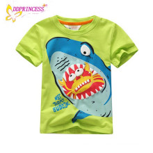 Pas cher prix 2014 été enfants vêtements bébé garçon t-shirt coloré garçon porter 3d impression chemise oem service enfant chemise