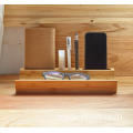 Custom logo wooden table desk organizer storage tool