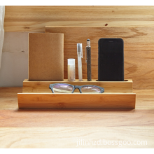Custom logo wooden table desk organizer storage tool