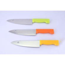 Couteaux de chef en acier inoxydable de 7 po, couteau de cuisine avec lame à trous