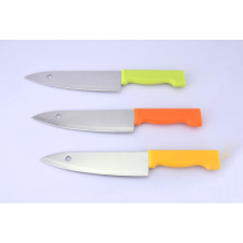 """7 """"facas de aço inoxidável do cozinheiro chefe, faca de cozinha com lâmina do furo"""