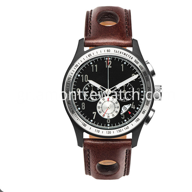 Real Leather Watch