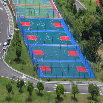 Anti-Skidding PP Interlock Outdoor Flooring Court Tiles