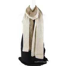 Fabrication d'écharpe en soie à deux tons avec des paillettes