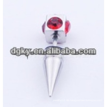 Neue Art roter Kristalldiamantstein-chirurgisches Stahlohr piercing
