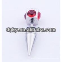 Nuevo estilo de piedra de diamante de cristal rojo de acero quirúrgico piercing