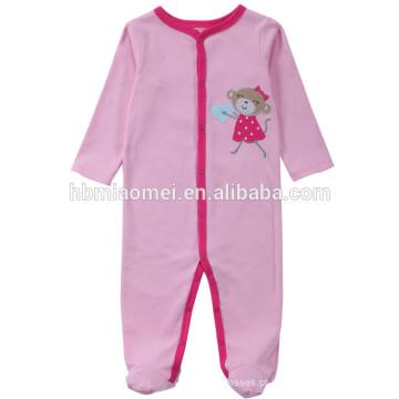 2017 moda inverno rosa cor manga comprida com capuz bebê roupas romper menina com preço de atacado
