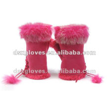 winter Fur fingerless gloves